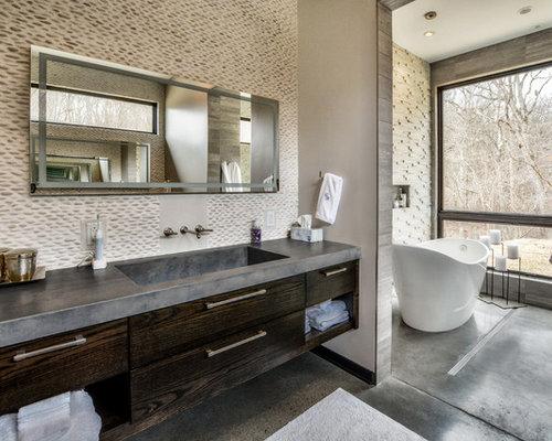 Cute Light Grey Tile Bathroom Floor Huge Bathroom Rentals Cost Clean Custom Bath Vanities Chicago Mosaic Bathrooms Design Youthful Wash Basin Designs For Small Bathrooms In India BlueBathroom Vainities Freestanding Bathtub Ideas, Pictures, Remodel And Decor