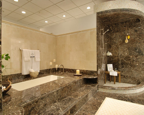 30 Bath with a Hot Tub and Marble Tile Design Ideas & Remodel Pictures ...