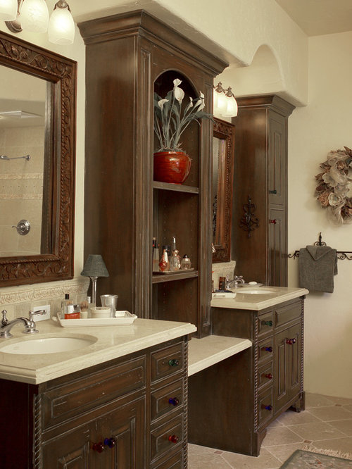 Mediterranean style custom home for Houzz bathrooms traditional
