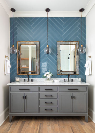 Transitional Bathroom by Pike Properties
