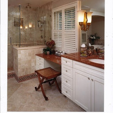 Traditional Bathroom by Virtue Tile & Stone