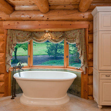 Master bath with cattails and dragonflies