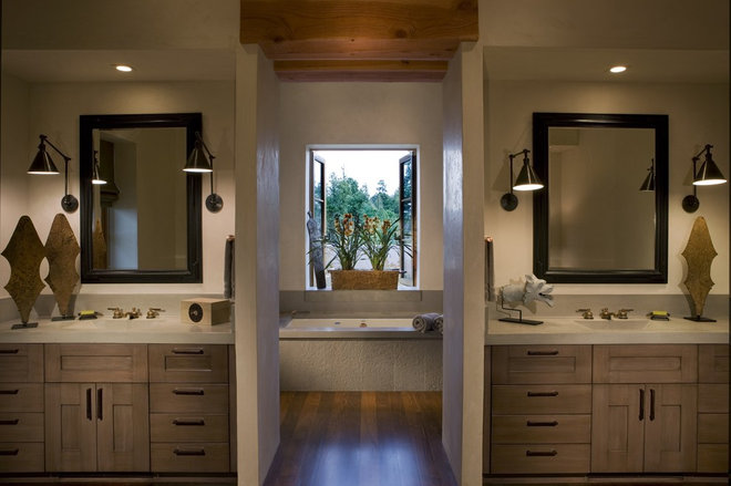Rustic Bathroom by Saint Dizier Design