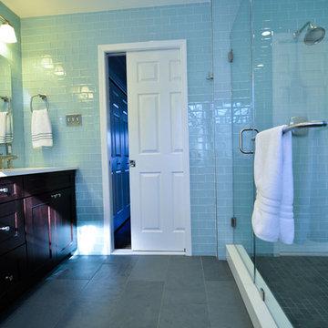 Master Bath with Pocket Door