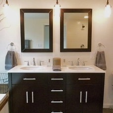 Modern Bathroom by Moore About... Design