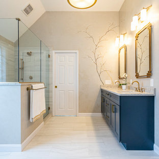 Master Bath with wall mural