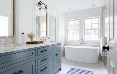Master Bathroom Mixes Traditional and Modern Touches