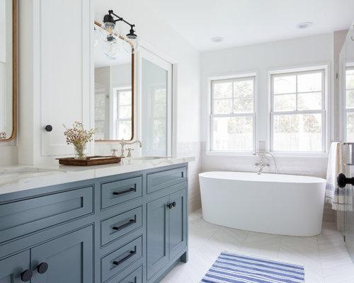 Sala Da Bagno Stile Contemporaneo : Stanza da bagno contemporanea con ante in stile shaker foto