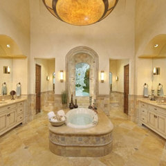 mediterranean bathroom by Amitha Verma Interior Design, LLC