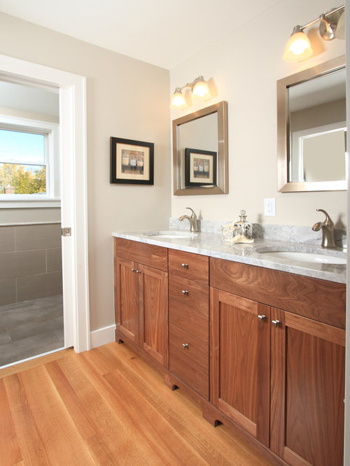 Silver oak bathroom design ideas renovations photos for Bathroom ideas with oak cabinets