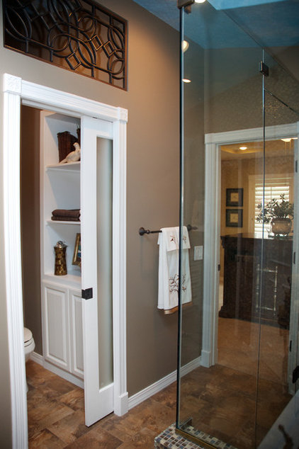 Transitional Bathroom by Gina McMurtrey Interiors