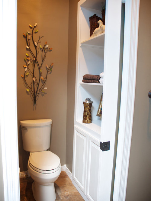 Custom linen closet home design ideas pictures remodel for Toilet room in master bath