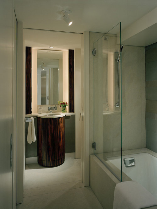 Inspiration For A Contemporary Tub/shower Combo Remodel In Seattle
