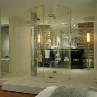 Walk-in shower - contemporary walk-in shower idea in Seattle