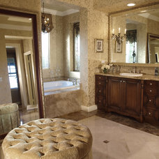 Traditional Bathroom by Annie Speck Interior Design