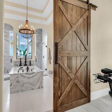 Master Bathroom Barn Door-Avenue of the Rushes