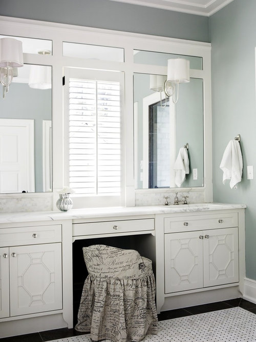 Inspiration For A Large Timeless Master Marble Floor Bathroom Remodel In Atlanta With Countertops
