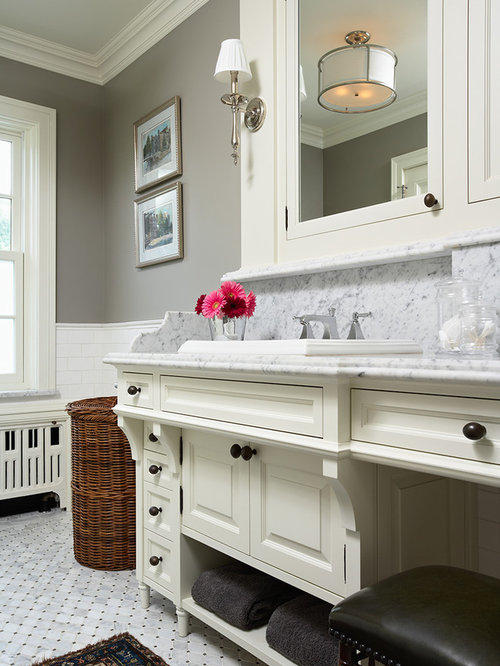 Inspiration For A Timeless Bathroom Remodel In Minneapolis With Mosaic Tile