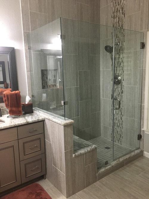 . MASTER BATHROOM   Complete remodel 12  x 24  Vertical Tile