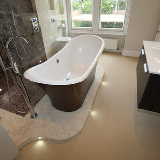 This is an example of a large modern bathroom in Other.