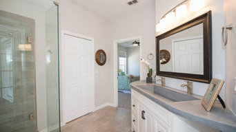 Master Bathroom Custom Concrete Countercon