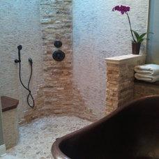Transitional Bathroom by Designing Richmond Kitchen & Bath
