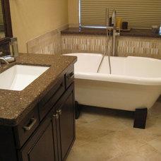 Traditional Bathroom by DESIGNER KITCHEN & BATH