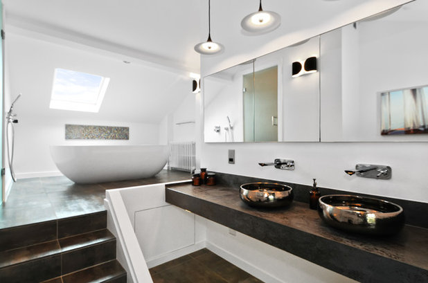 Contemporain Salle de Bain by DS Interior Design