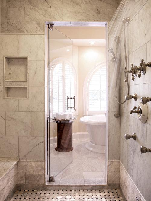 Example Of A Classic Mosaic Tile Bathroom Design In Atlanta