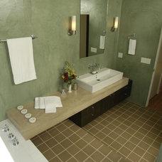 Modern Bathroom by Equinox Architecture Inc. - Jim Gelfat