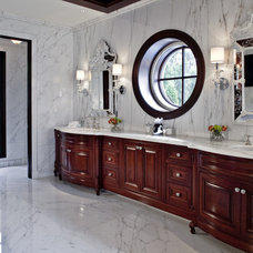 traditional bathroom by EuroCraft Interiors Custom Cabinetry