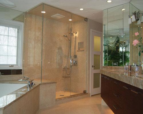 High end shower bathroom design ideas remodels photos for High end bathroom designs