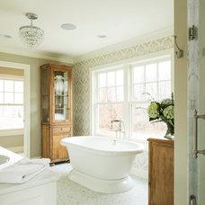Farmhouse Bathroom by Hendel Homes