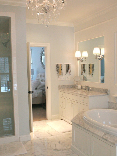 Best bianco avion premium marble design ideas remodel for Houzz bathrooms traditional