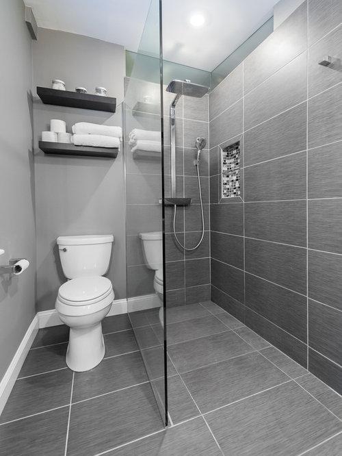 Salle de bain moderne avec une douche l 39 italienne for Eclairage douche italienne
