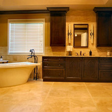 Transitional Bathroom by Integral Design