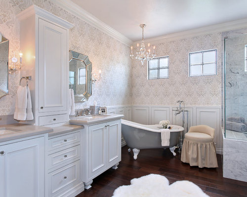 traditional gray bath design ideas pictures remodel decor with a
