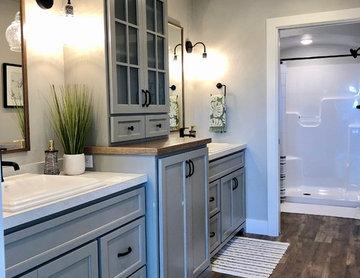 Master Bathroom in the Amberwood Model