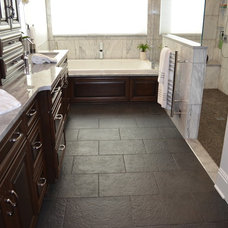 Transitional Bathroom by Prime 1 Builders