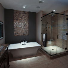 Transitional Bathroom by Instyle Interiors
