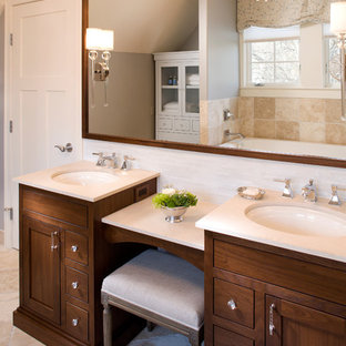 Dual Vanity With Makeup Counter | Houzz on