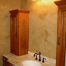 Modern Bathroom by Bella Faux Finishes