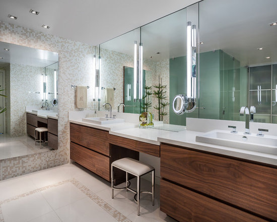 Bathroom Makeup Vanity double sink makeup vanity | houzz