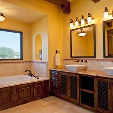 Mediterranean Bathroom by Jenkins Custom Homes