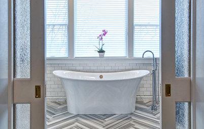 Art Deco Style Meets Modern Sensibility in a Glamorous Master Bath