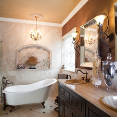 traditional bathroom by Karen Spiritoso Home Designs By Karen