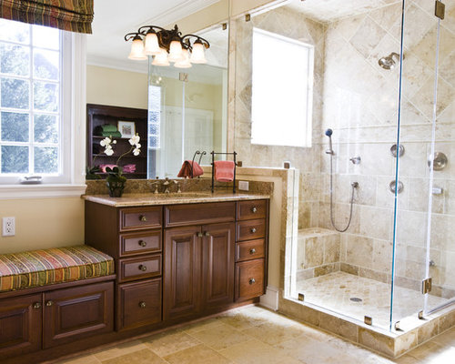 kitchen cabinets wood built in shower seat houzz 21459