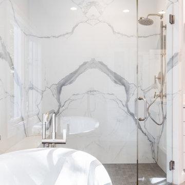 Master Bathroom Kohler Freestanding Tub and Stand up Shower with Kohler Fixtures