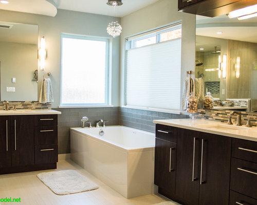 portland bathroom design ideas renovations photos with brown