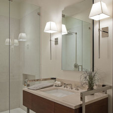 transitional bathroom by Neuhaus Design Architecture, P.C.
